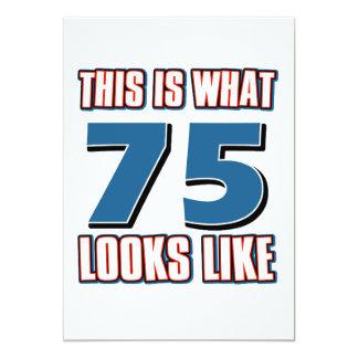 Este é o que 75 anos de lool gostam convite 12.7 x 17.78cm
