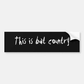 Este é país do bastão - personalizado adesivo para carro