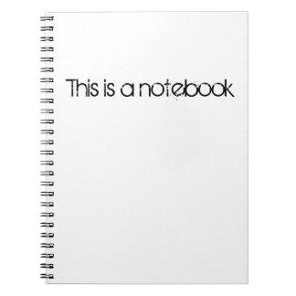 Este é um caderno