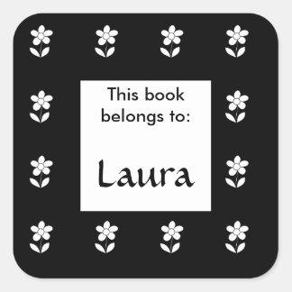Este livro pertence à etiqueta floral do bookplate