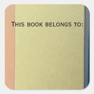 Este livro pertence a: etiquetas do livro adesivo quadrado