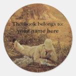 Este livro pertence… aos Bookplates das belas arte Adesivo