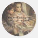 Este livro pertence… aos Bookplates das belas arte Adesivos Em Formato Redondos
