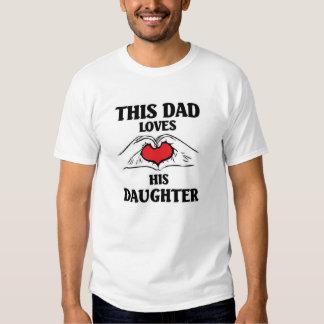 Este pai ama sua filha camiseta