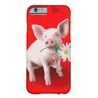 Este porco no caso do iPhone 6 do amor Capa Barely There Para iPhone 6