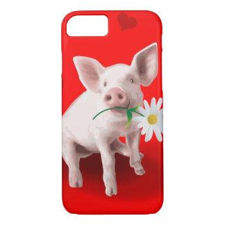 Este porco no caso do iPhone 7 do amor Capa iPhone 7