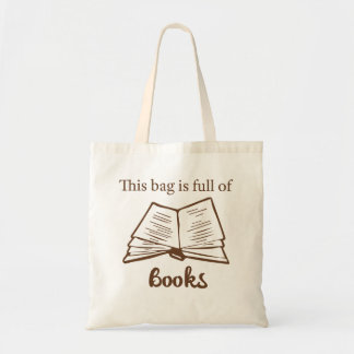 Este saco é cheio dos livros - saco de livro sacola tote budget