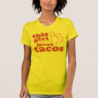 Este Tacos dos amores da cara ou da menina T-shirts