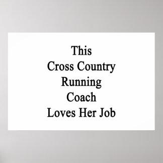 Este treinador do corredor do país transversal ama poster