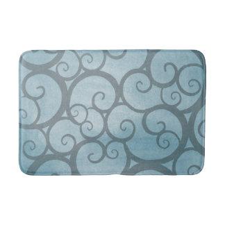 Esteira de banho azul da videira tapete de banheiro