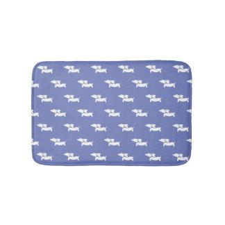 Esteira de banho azul do Dachshund Tapete De Banheiro