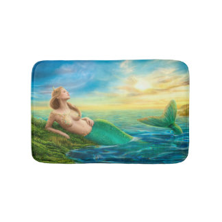 Esteira de banho bonita da sereia da fantasia da tapete de banheiro