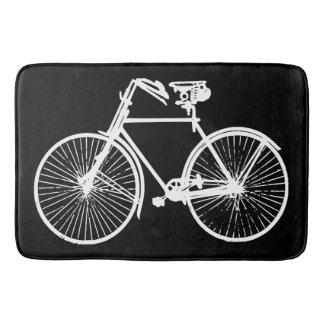 esteira de banho branca do preto da bicicleta da tapete de banheiro