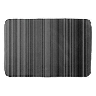 Esteira de banho branca preta da listra do cinza tapete de banheiro