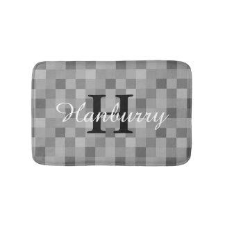 Esteira de banho cinzenta Monogrammed do teste Tapete De Banheiro