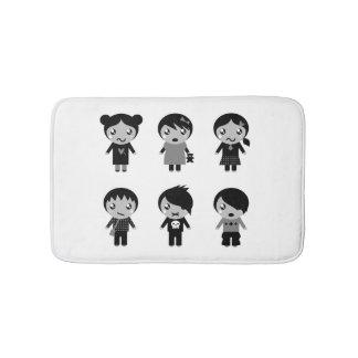 Esteira de banho com miúdos de Emo Tapete De Banheiro
