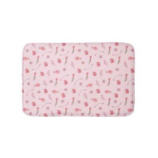 Esteira de banho cor-de-rosa bonito do teste tapete de banheiro