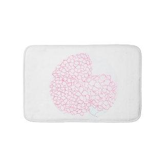 Esteira de banho da flor do Hydrangea Tapete De Banheiro