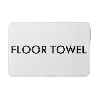 Esteira de banho de toalha do assoalho tapete de banheiro