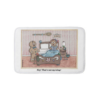 Esteira de banho do casal do pão-de-espécie tapete de banheiro