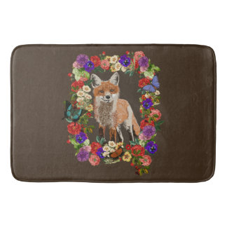 Esteira de banho floral do tapete de banho do Fox