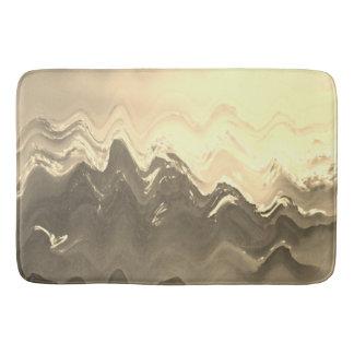 Esteira de banho marrom francesa abstrata do creme tapete de banheiro