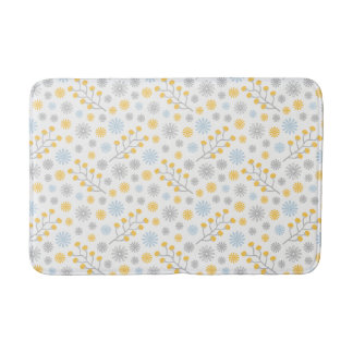 Esteira de banho média amarela & cinzenta azul tapete de banheiro
