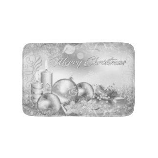 Esteira de banho monocromática do Natal Tapete De Banheiro