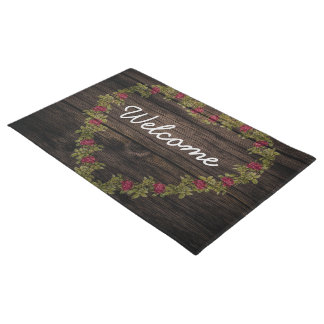 Esteira de porta floral da boa vinda da grinalda tapete