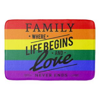 Esteira do banheiro do arco-íris da bandeira do tapete de banheiro