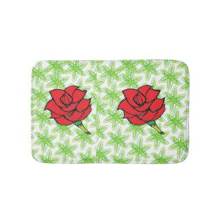 esteira dos rosas tapete de banheiro