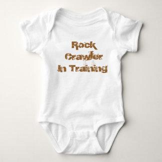 Esteira rolante da rocha no desgaste infantil de body para bebê
