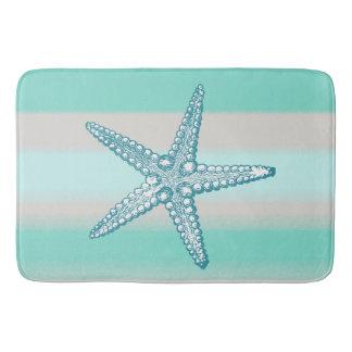 Esteiras de banho náuticas da estrela do mar da tapete de banheiro