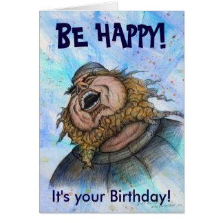 Esteja feliz! Cartão de aniversário