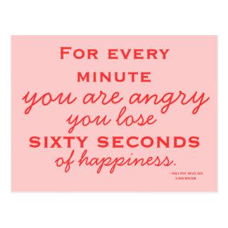 Esteja feliz - cartão inspirador