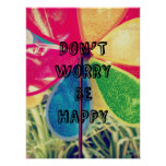 Esteja feliz poster