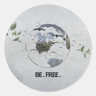 Esteja livre adesivo