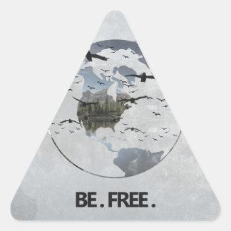 Esteja livre adesivo triangular