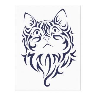 Estêncil dianteiro da cara do gatinho do gato do