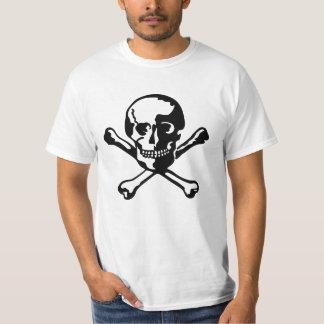Estêncil do crânio camiseta