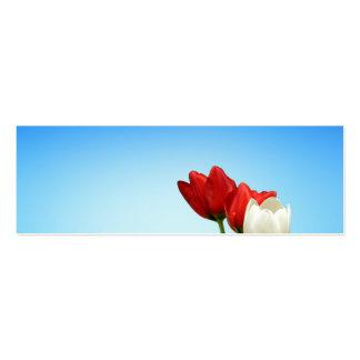 Estética branca vermelha do primavera das tulipas modelos cartões de visitas