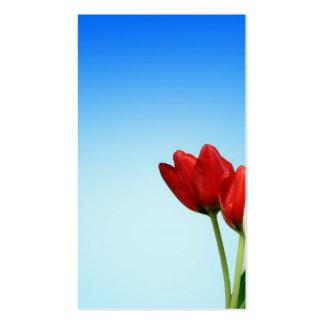 Estética branca vermelha do primavera das tulipas  cartões de visita