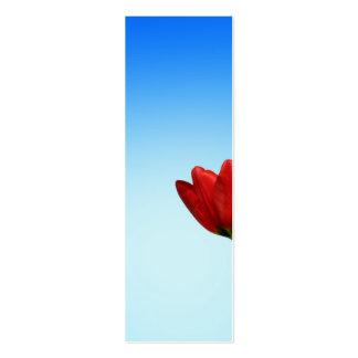 Estética branca vermelha do primavera das tulipas cartão de visita skinny