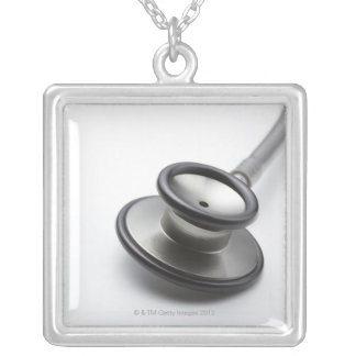Estetoscópio 3 colar banhado a prata