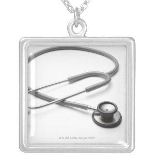 Estetoscópio 4 colar banhado a prata