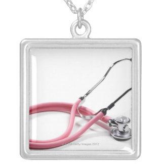 Estetoscópio cor-de-rosa bijuterias personalizadas