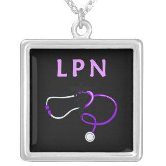 Estetoscópio de LPN Colar Com Pendente Quadrado