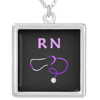 Estetoscópio do RN Colar Com Pendente Quadrado