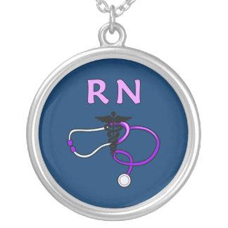 Estetoscópio do RN Colar Banhado A Prata