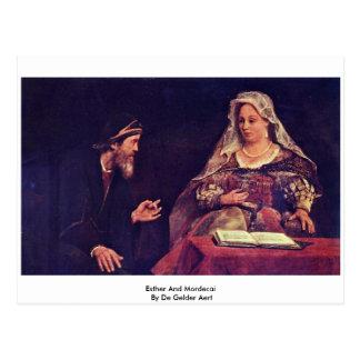Esther e Mordecai De Gelder Aert Cartão Postal